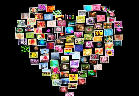 ♥ My First 100 Wallpapers ♥ - wallpaper, pictures, collage, abstract, colors, cards, heart