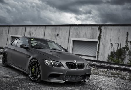 Bmw M3 coupe e92 - bmw, active, black, autowerke, coupe, e92, m3, matte finish, the sky