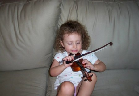 A Musician in The Making - photos, music, practice, violins
