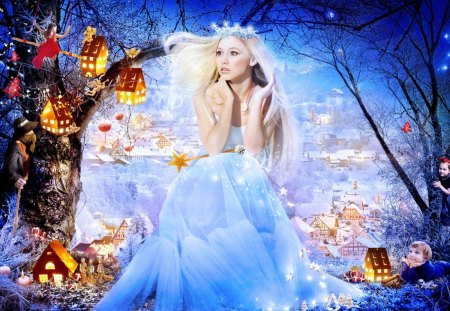 fairytale princess - children, woman, cute, blonde, child, princess, fairytale