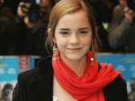 Emma Watson with Red Scarf !!!