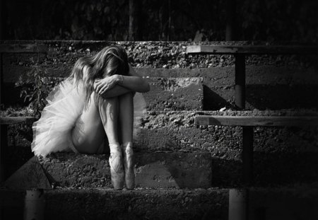 My Soul Craves Your Touch - ballerina, woman, miss, alone, sad, dream, love, black and white, soul
