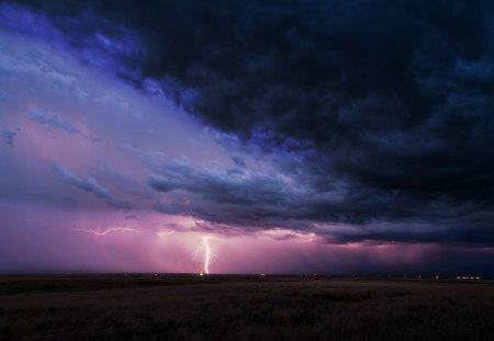 Lightning Strike - storms, nature, lightning, beauty