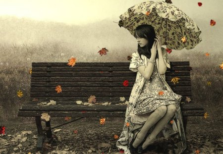 Autumn time - people, photography, other, beautiful, animation, fantasy, entertainment