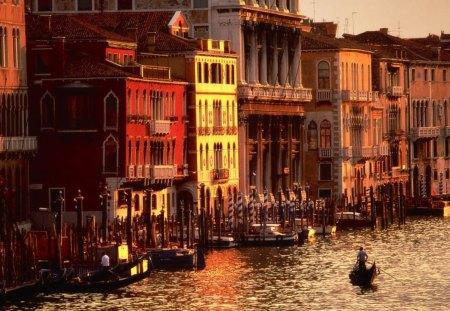 Afternoon in Venice - venice, photo, afternoon, river