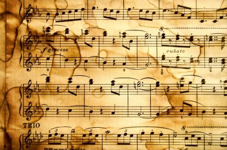 Music notes - paper, music, classical, notes