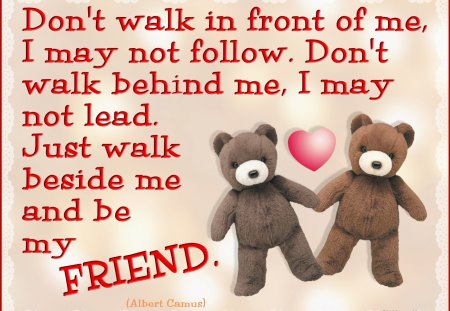 ♥ Friendship Poem ♥ - heart, bears, teddy bears, poem, abstract, love, collage, teddies, friendship