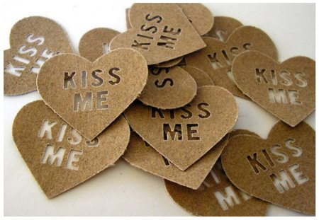 Confetti message♥ - heart, message, shape, kiss me, forever, wedding, sweet, love, confetti, texture, together