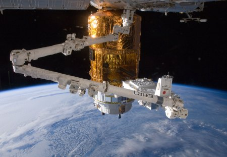 Canadarm2 and HTV - iss, space, htv, canadarm2