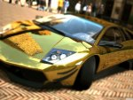 lambroghini murcielago in gold