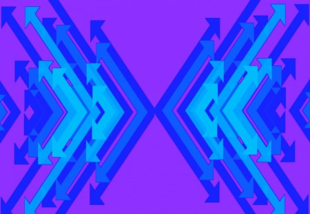 Double Arrow Blue and Purple - cool, contrast, pink, blue, abstract, purple, nice, stuff, arrows, cyan, other, colorful, wallpaper, high, arrow, quality, background, neat