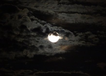 Cloudy Night - moon, neil armstrong, blue moon, clouds, sky