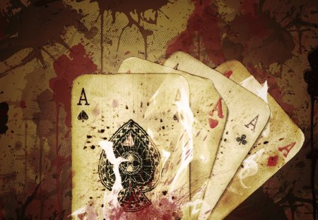 Ace - classy, retro, blood, ace, vintage, cards, tazgfx
