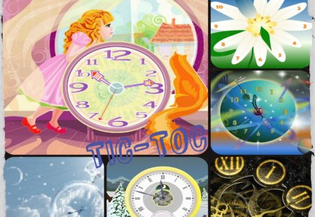 ~~~TIC-TOC  TIME~~~ - abstract, clocks, time, collages