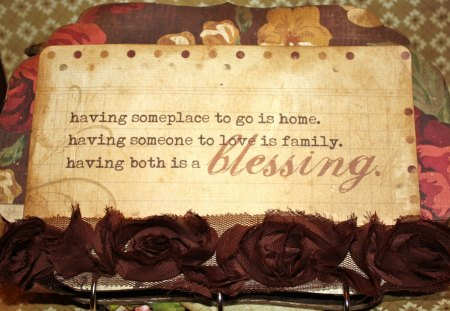 ღ Blessing ღ - home, quote, love, words, blessing, family