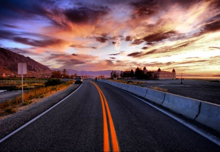 ~Highway To No Where~ - nature, sky, nowhere, highway