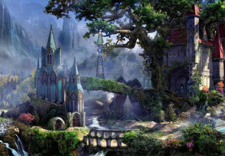 Fantasy Land - land, fantasy, art, abstract