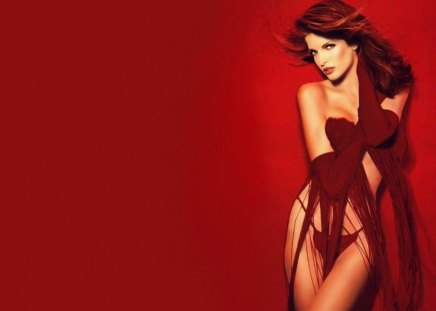 Stephanie Seymour - sexy - fashion, photography, fur, playboy, face, tempting, famous, red, eyes, stephanie seymour, sexy, celebrity, woman, legs, sensual, supermodel, body, long legs, redhead, nice, 90s, lips, beauty, beautiful, gloves, pretty, red lips, lingerie
