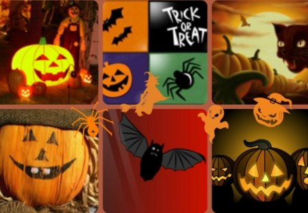 ~~Trick or Treat~~ - abstract, pumpkins, halloween, collages