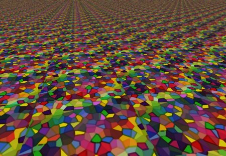 Miles of Tiles - squares, tiling, multicolored, tiles