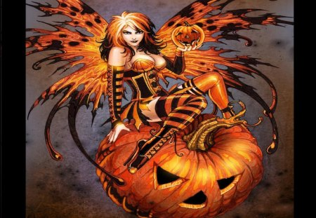 Halloween Fairy - Fantasy & Abstract Background Wallpapers ...