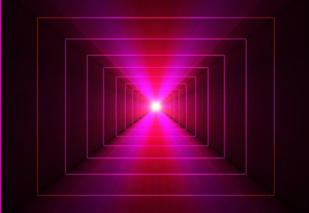 ♥      From Dark to Light      ♥ - mind teaser, light, 3d and cg, pink, tunnel, abstract, black