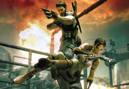 resident evil 5 - resident evil 5, chris and sheva