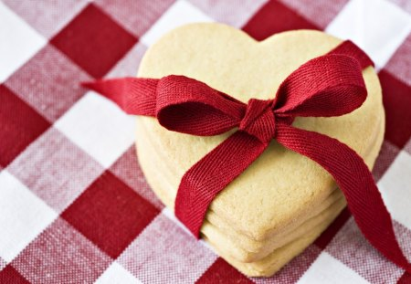 Cookies - ribbon, cookies, heart, food