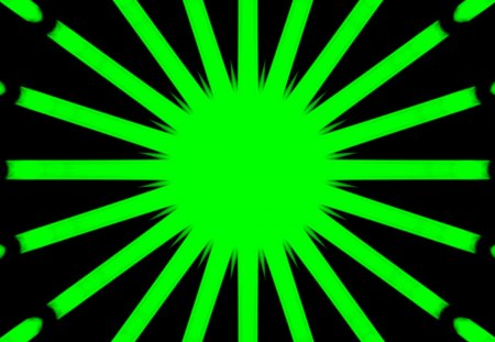 editadd caleido green - abstract, black, labrano, edit, add, green, sun, caleidoscope, gabbernetz, gizzzi
