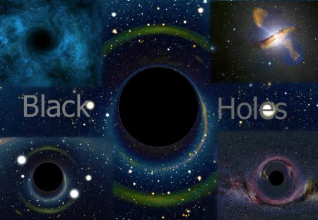 Super Massive Black Holes - abstract, art, beautiful, digital
