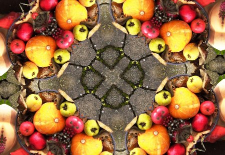 ♥      Autumn Fruits      ♥ - pears, abstract, mind teaser, pumkin, apples, autumn fruits