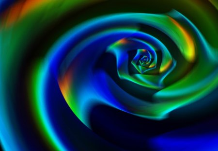 ♥      Rose Pirouette      ♥ - pirouette, 3d and cg, rose, abstract, swirl, whirl, dark colors