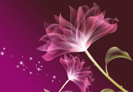 Digital Pink - flower, digital art, pink, pink flower, abstract, art