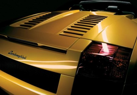 lamborghini - cabrio, luxury, lamborghini, yellow, car