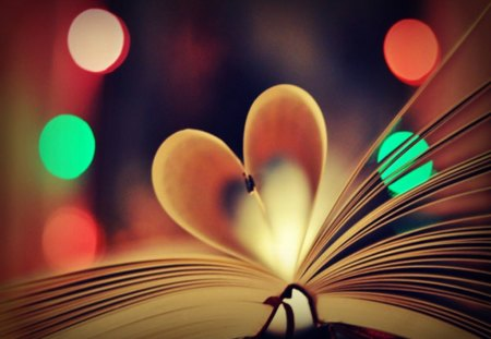 Heart Book - bokeh, photography, heart, book