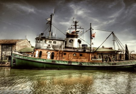 the boat - water, fishing, harbour, industry