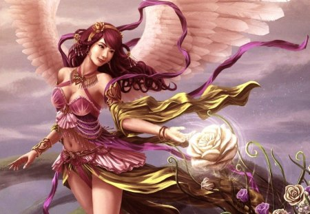 ♥beauty angel for Diane♥ - fantasy, beauty, angel, tags
