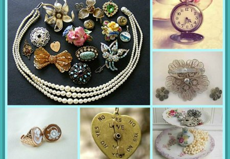 *Jewellery of the 1920's* - vintage, abstract, jewellery, collage