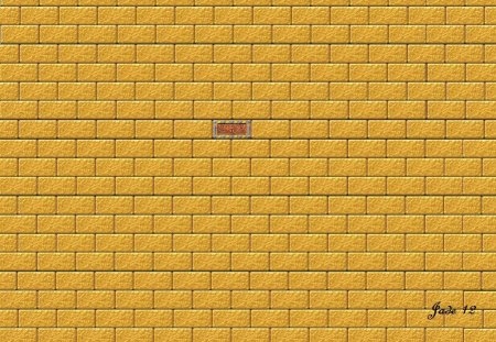 wall - bricks, gold, 22657, wall
