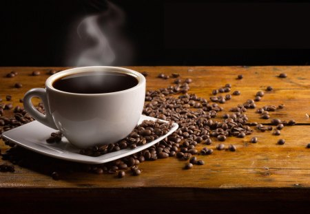 Coffee Time - beans, cup, coffee time, coffee
