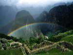 Rainbow over Machu Picchu