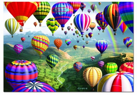AIR BALLOONS - balloons, ravenburgh, puzzles, hot, air