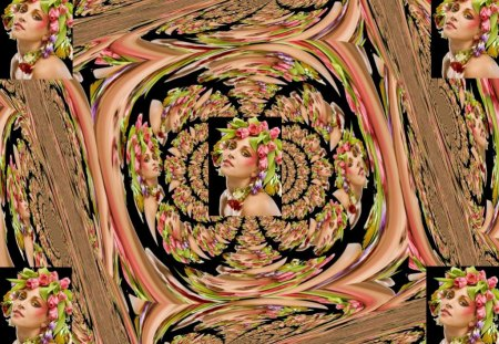 Abstract Series5  -how many ladies are there - 5, absract, lady, series