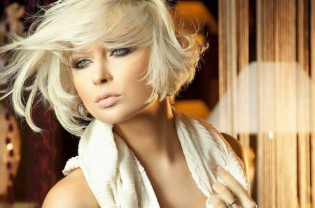 Sensual woman - model, elegant, cute, sensual, lady, woman, hot, sad, blonde