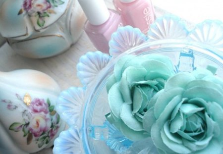 vintage - decoration, soft colors, still life, design