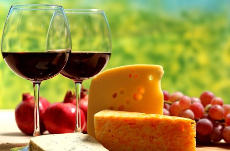 Cheese and Wine - fruits, grapes, fooodstuff, drink