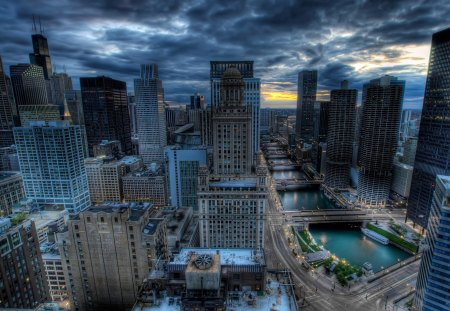 Cityscapes Chicago HDR - hdr, town, city, chicago