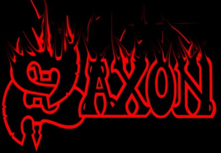 Saxon - band, heavy, logo, saxon, black, metal, red, music