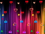 Abstract Hearts Wallpaper