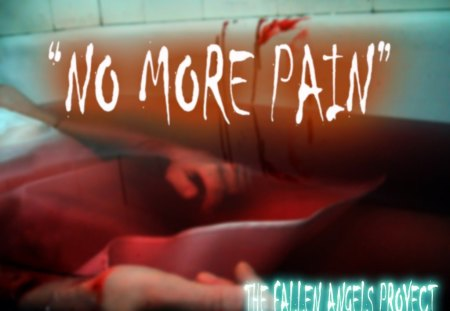 No More Pain - tile, ended, blood, bathroom, fallen angels